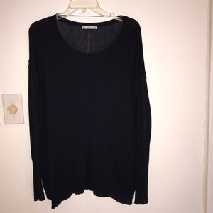 Zara Knit /long sleeve /size medium / Navy blue